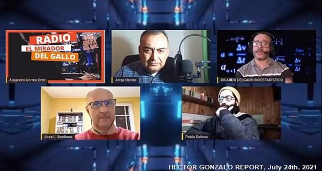1018.01 CHILE RADIO MIRADOR DEL GALLO JORGE OSORIO INTERVIEW WITH DR SEVILLANO AND BIOESTADISTIC RICARDO DELGADO ON JULY 17, 2021 Part 1 of 2