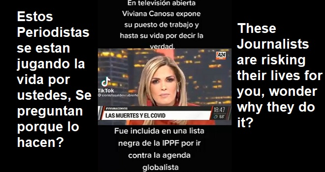 1073.01 Argentina Buenos Aires A24 Viviana Canosa On Open Television Exposes her job and even her life for telling the truth