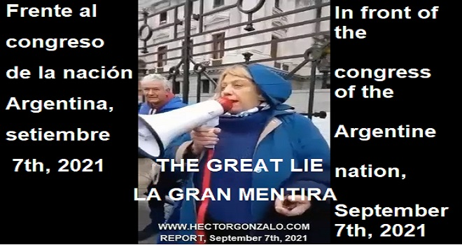 1076.01 ARGENTINA Dra Chinda Brandolino In front of the congress of the nation lying to the protesters for their own benefit