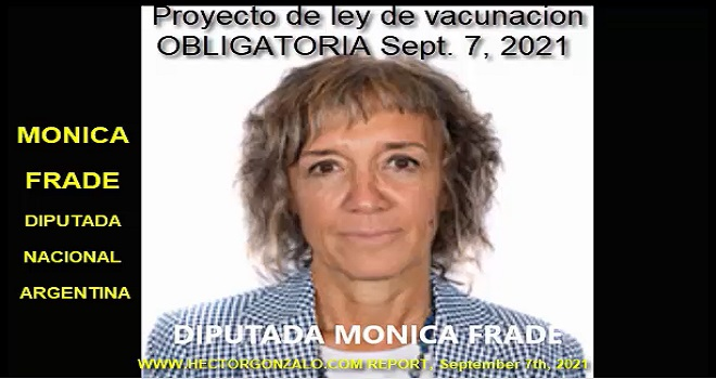 1077.01 ARGENTINA Monica Frade Deputy of the nation denies what Chinda Brandolino asserted in front of the congress she tries to confuse the Argentine people