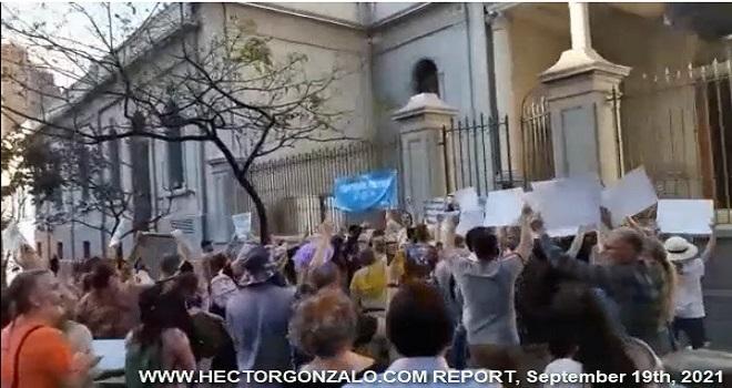 1083.01 Argentina Cordoba Capital Manifestacion como tiene que ser en todo el pais cada dia o no detenemos la matanza Septiembre 18 2021