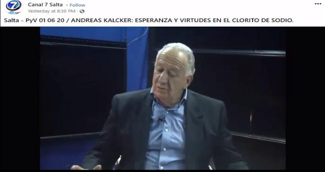 252.01 SALTA ARGENTINA PALABRAS Y VERDADES 01 06 20 ANDREAS KALCKER ESPERANZA Y VIRTUDES EN EL CLORITO DE SODIO