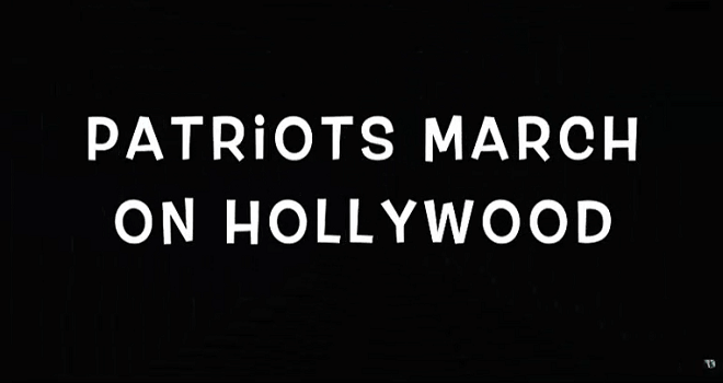 514.02 USA HOLLYWOOD Patriots March On Hollywood SAVE THE CHILDREN STOP TRAFFICKING