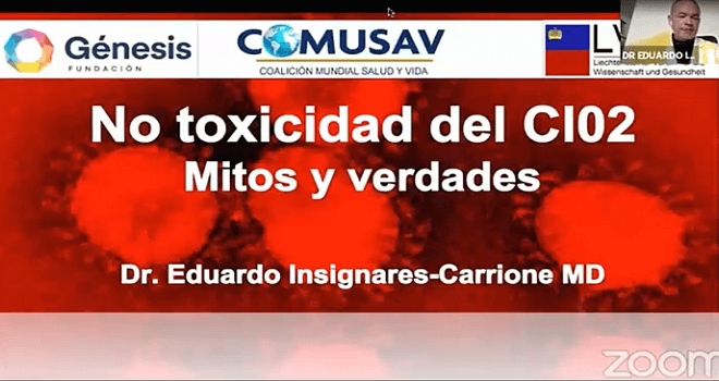 561.01 COLOMBIA DR EDUARDO INSIGNARES CARRIONE No toxicity of chlorine dioxide Myths and truths