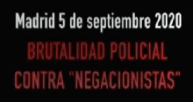 571.01 ESPANA Madrid 5 de Septiembre del 2020 BRUTALIDAD Policiaca por no usar mascarilla CERDOS