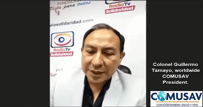 608.01 ESPANA MADRID MARKET ECUADOR Col. Guillermo Tamayo covid 19 is nothing is a simple virus that is eliminated with chlorine dioxide diluted in water