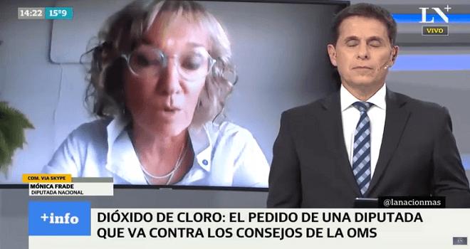 684.01 ARGENTINA DIPUTADA MONICA FRADE PIDO QUE APRUEBEN LOS ENSAYOS CLINICOS CON DIOXIDO DE CLORO