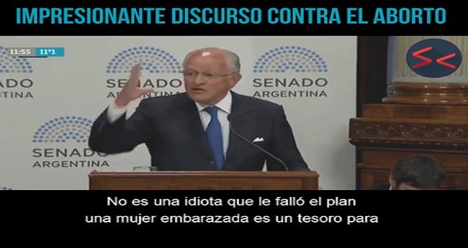 718.01 ARGENTINA SENADO Dr ABEL PASCUAL ALBINO IMPRESIONANTEMENTE HUMANO DISCURSO CONTRA EL ABORTO