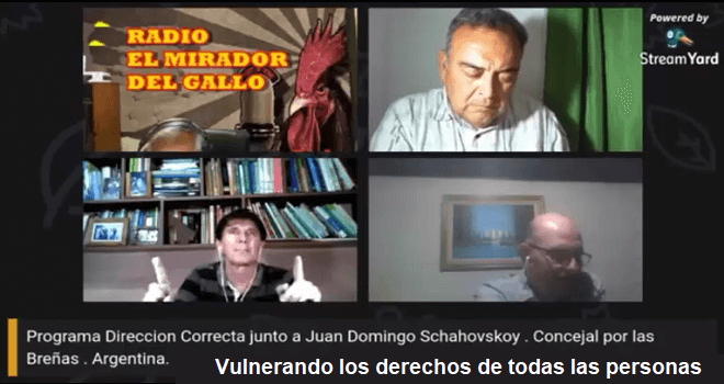 794.02 CHILE RADIO EL MIRADOR DEL GALLO ARGENTINA ENGINEER JUAN DOMINGO SCHAHOVSKOY COUNCILOR OF THE BRENAS CHACO A BRAVE POLITICAL PROFESSIONAL MAKING THE UNIVERSAL DENUNCIATION PART 2 OF 2