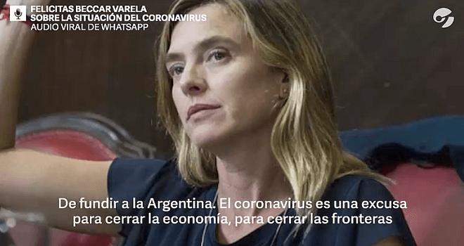920.01 ARGENTINA Felicitas Beccar Varela About the siituation of the corona virus